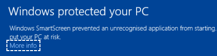 Windows warning 1
